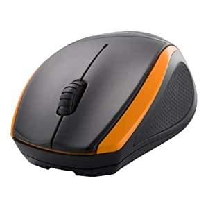iBUFFALO 無線(2.4GHz)BlueLEDマウス 3ボタンタイプ オレンジ BSMBW08OR