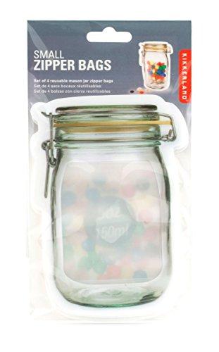 キッカ―ランド KIKKERLAND ジッパーバッグ Zipper Bag / CU145-S [ Sサイズ/4枚入り ]