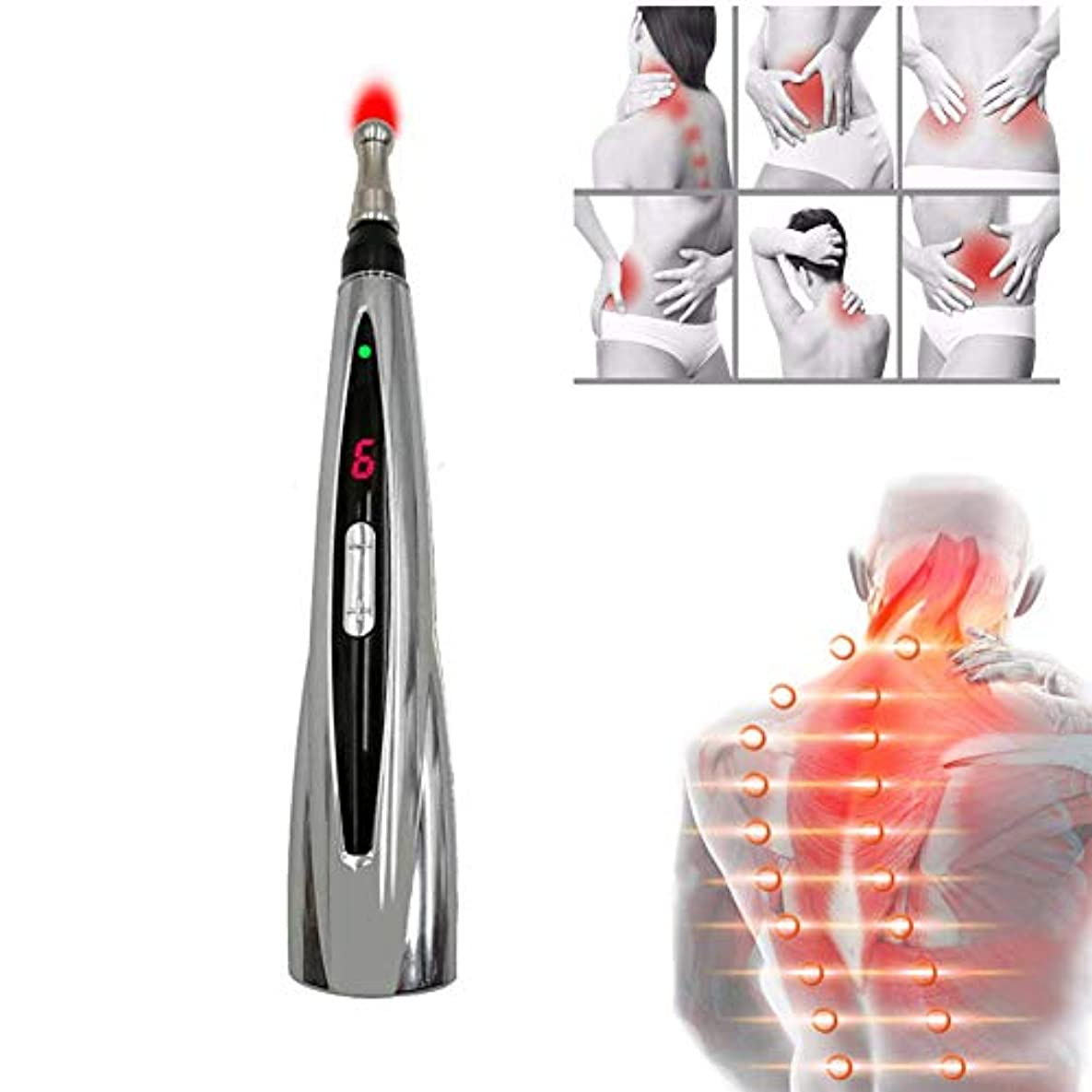 運搬矢印ドナーUSB充電式電気鍼メリディアンエネルギーペン痛み緩和とヘルスケアのための針のない鍼ツール