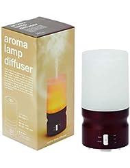 アロマランプディフューザー ダークブラウン(ミスト式芳香器 超音波振動方式 精油?エッセンシャルオイル専用 タイマー?LEDライト付)