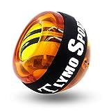 Tlymo スナップボール 2018最新版 オートスタート機能 筋トレ 手首 握力 トレーニングボール 静音 腕力 筋トレ器具 (オレンジ)
