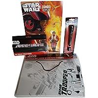 Kids Star WarsアクティビティBundle of 4アイテムIncludesドライ消去ボード、ジャンボカラーリング&アクティビティブック、24 ctクレヨン、懐中電灯ペン