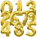 パーティー用品 パーティーバルーン 数字 風船 ゴールド 40cm 「0~9」 10個セット