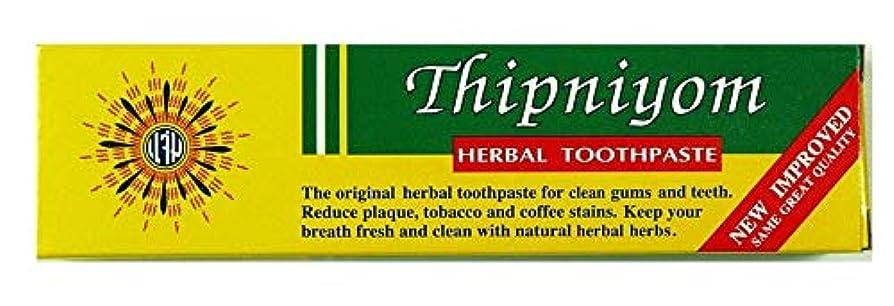 ペパーミント切る悲観的ThipNiyom 歯磨き粉 160g タイハーブハーブ歯磨き粉 [並行輸入品]