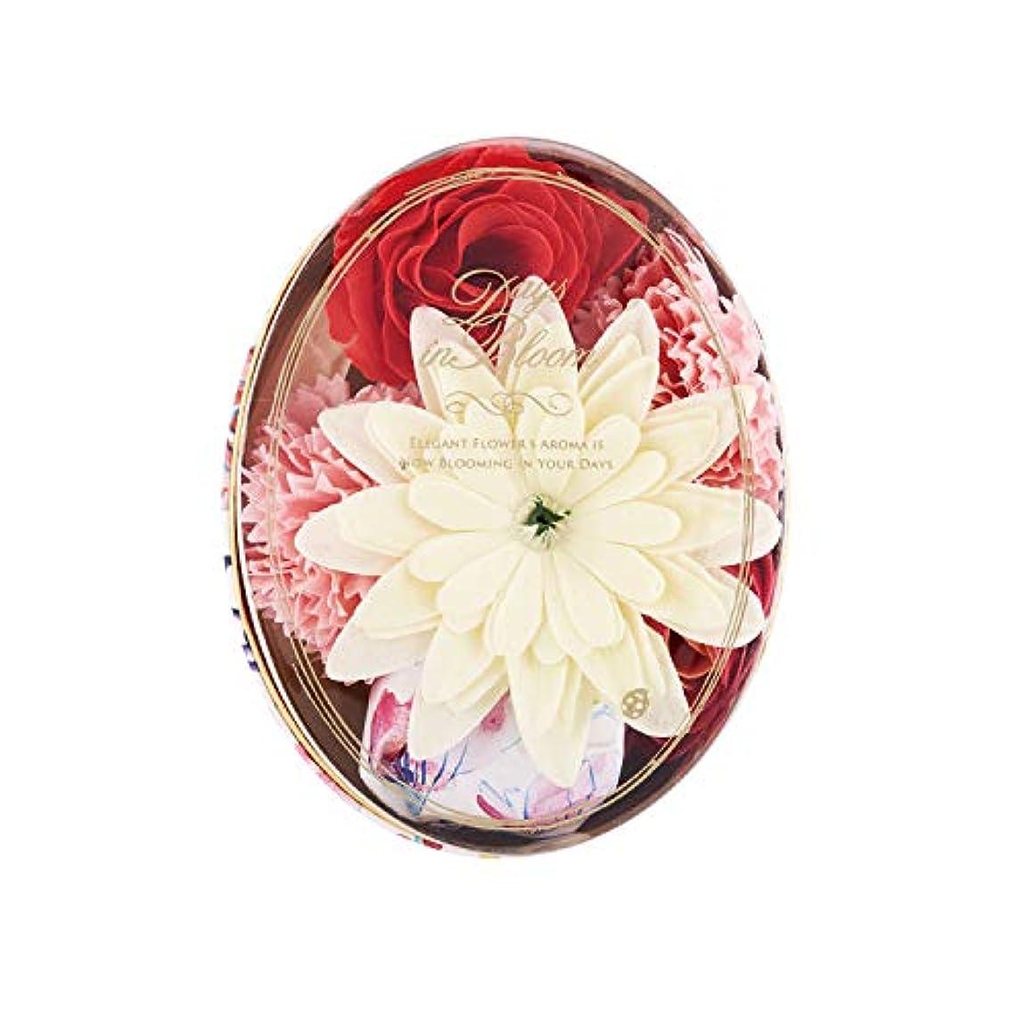 資産カバー若さデイズインブルーム バスセットオーバル ローズ (入浴料 お花の形のバスギフト)