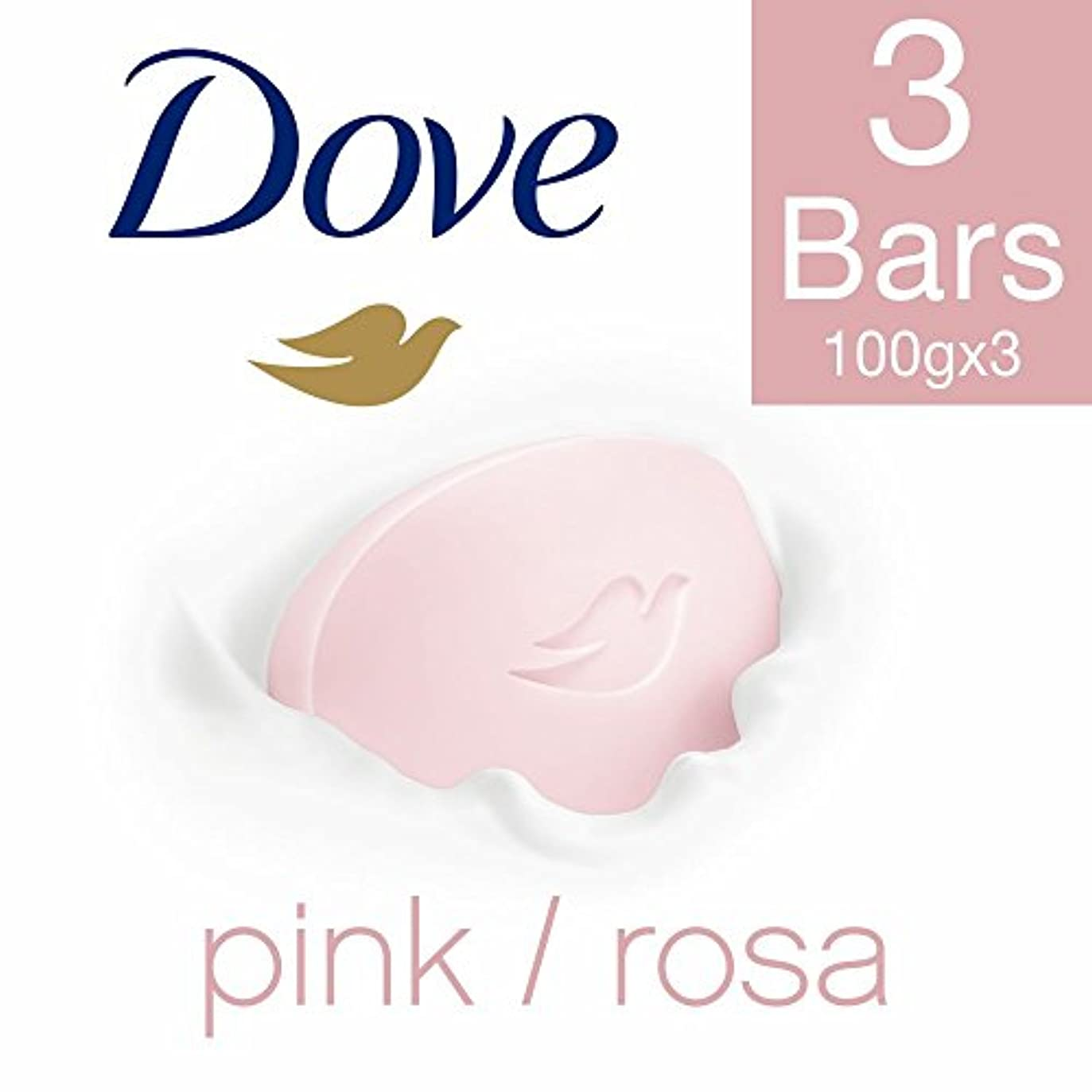 乗り出す繁殖卵Dove Pink Rosa Beauty Bathing Bar, 100g (Pack of 3)