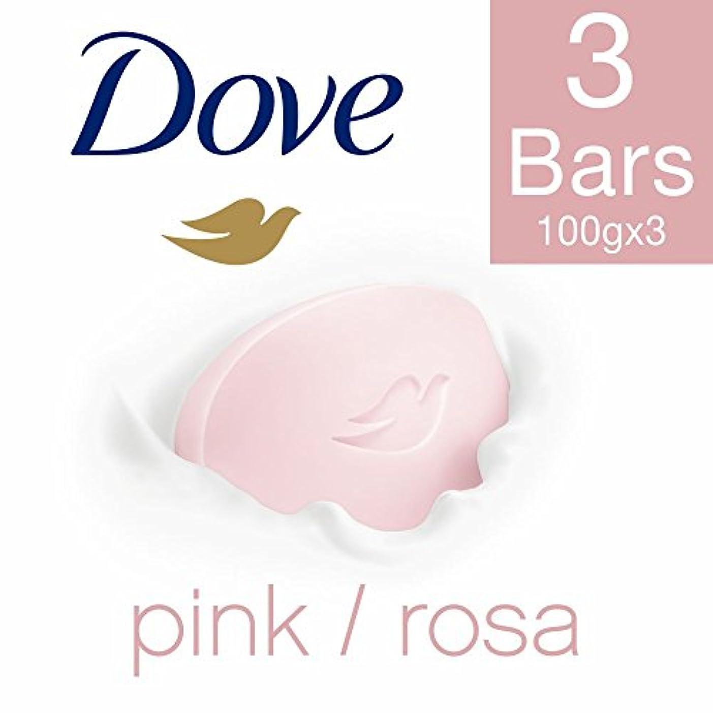 摩擦端スケルトンDove Pink Rosa Beauty Bathing Bar, 100g (Pack of 3)