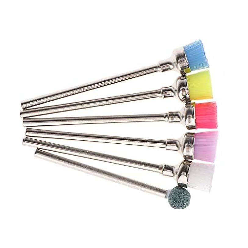 早いシュート突き刺すマニキュアツール ネイルケア ネイルドリルビット 耐食性 多機能 全5色 - 05