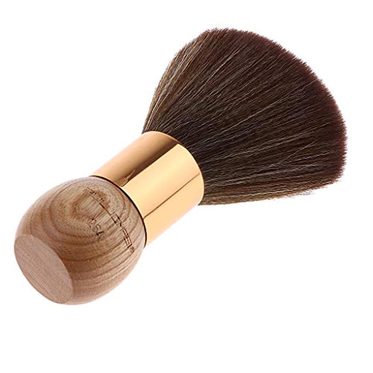 Sharplace メンズ用 髭剃り ブラシ シェービングブラシ 木製ハンドル 男性 ギフト理容 洗顔 髭剃り