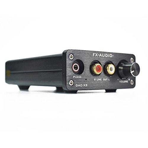 FX-AUDIO DAC-X3 HIFIヘッドフォンアンプ 光同軸USB DAC 24BIT/192Khz デジタル デコーダ