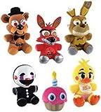 "Set of 6: Funko Five Nights At Freddy 's 6"" Plush Figures–カップケーキ、おもちゃChica、スプリングトラップ、Freddy、Foxy、Marionette"