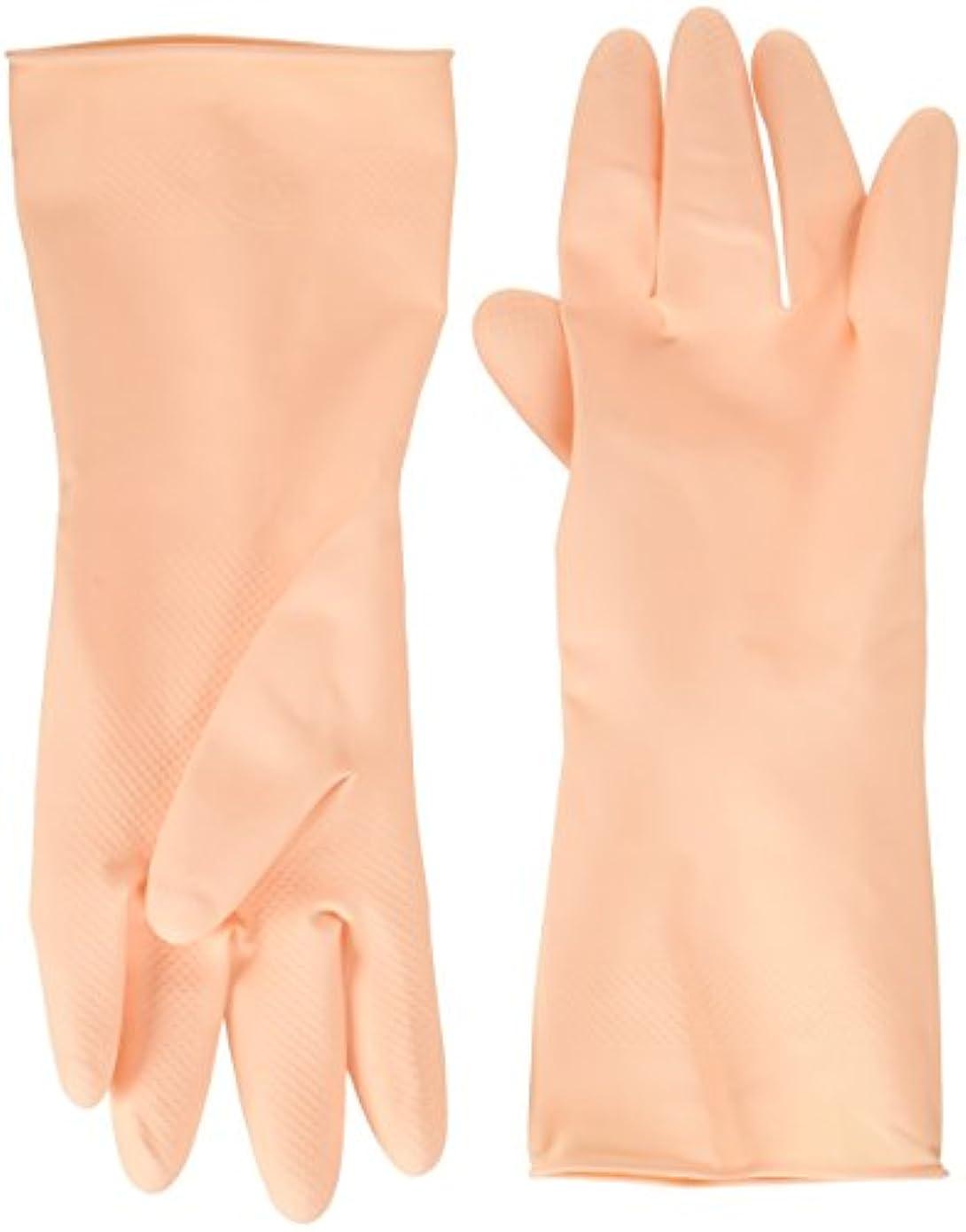 担保病創始者家庭用天然ゴム手袋ラバーローブフリー2双入