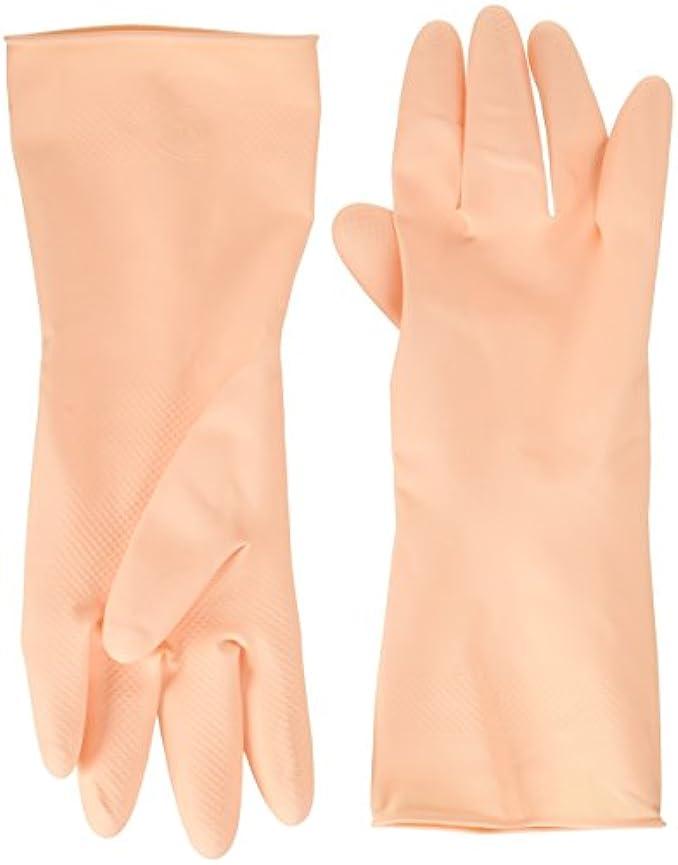 無効にする預言者あからさま家庭用天然ゴム手袋ラバーローブフリー2双入