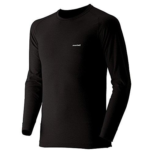 (モンベル)mont-bell ジオラインM.W.ラウンドネックシャツ Men's 1107525 BK ブラック M
