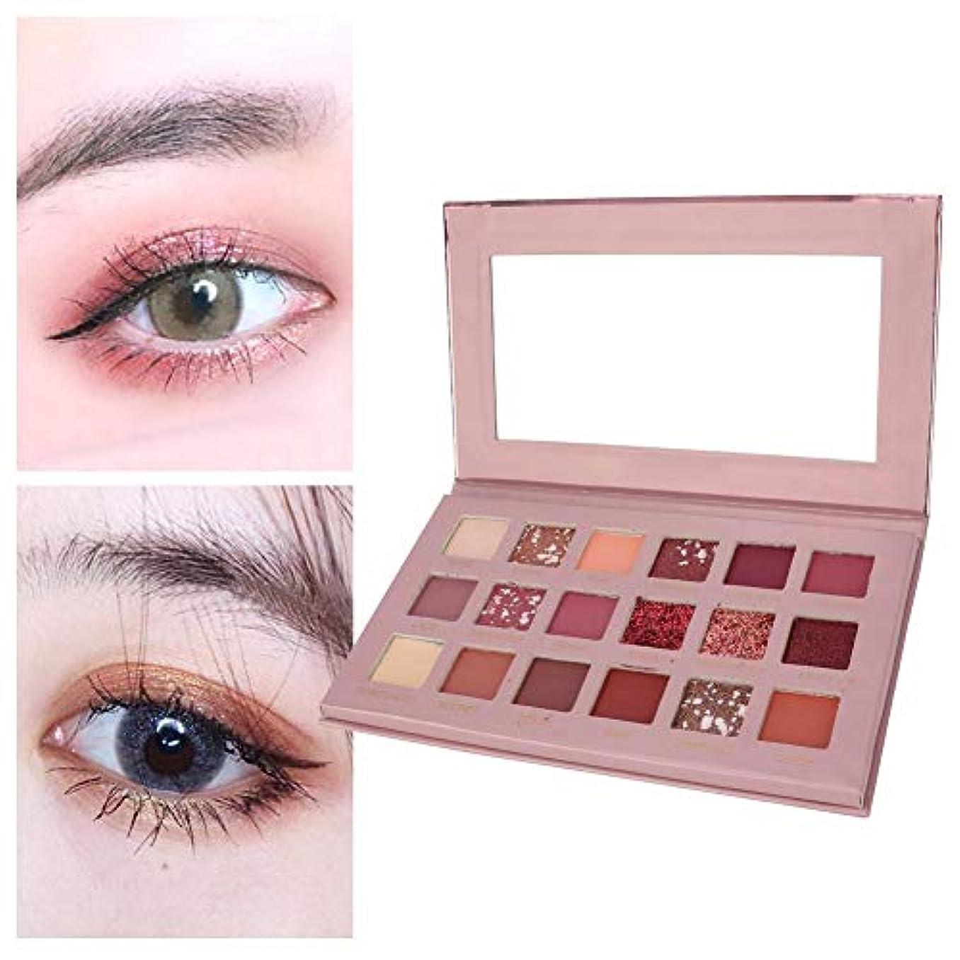 アイシャドウパレット 18色 アイシャドウパレット 化粧マット グロス アイシャドウパウダー 化粧品ツール