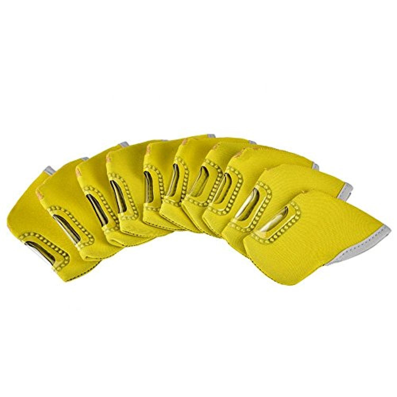 vgeby 10個ゴルフクラブヘッドカバー、ネオプレンゴルフクラブアイアンヘッドカバーセット保護用ヘッドカバーパタープロテクター