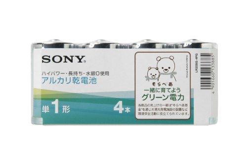 ソニー アルカリグリーン乾電池 単1形 4本パック LR20SG-4PG