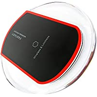ワイヤレス充電器 Qi充電器 USBケーブル付 iPhone 8 /iPhone 8 Plus/iPhone X, Galaxy S9 /S9 Plus/Note 8/S8/S8 Plus/S7/S7 Edge,Nexus,SHARP,Moto360などQi機能搭載のデバイスに対応 (ブラック)