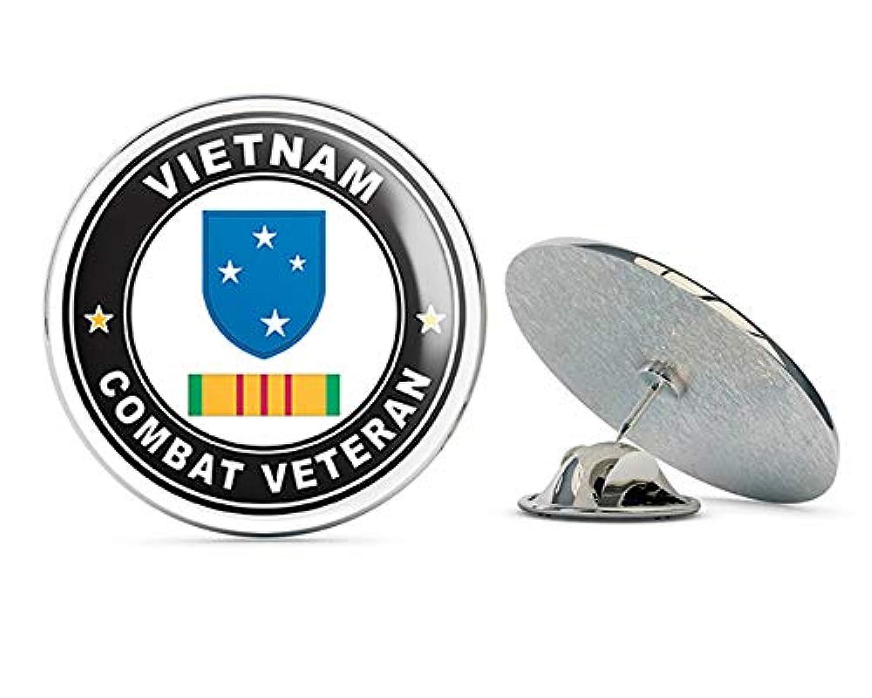 アメリカ陸軍 第23歩兵 (アメリカ軍) ベトナム コンバット 退役軍人 リボン付き メタル 0.75インチ ラペルハット ピン タイ タック ピンバック