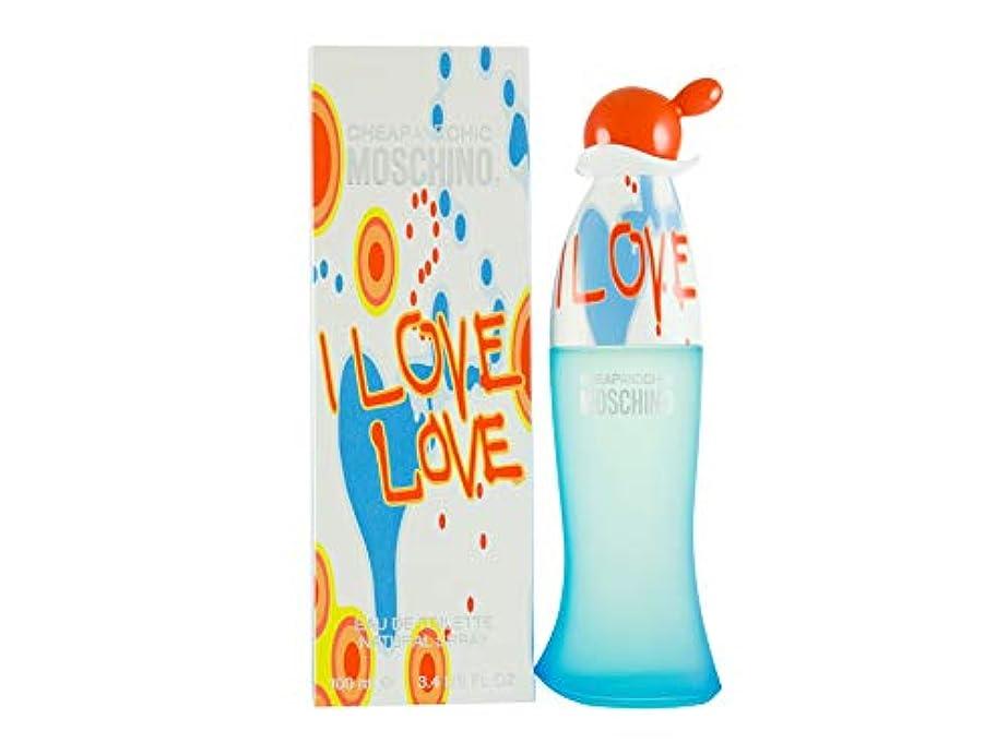 ハチチャップ押し下げるI Love Love by Moschino Eau De Toilette Spray 3.4 oz / 100 ml (Women)