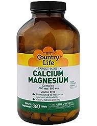 Country Life ターゲット ミネラル カルシウム マグネシウム 複合体 360錠 【アメリカ直送】