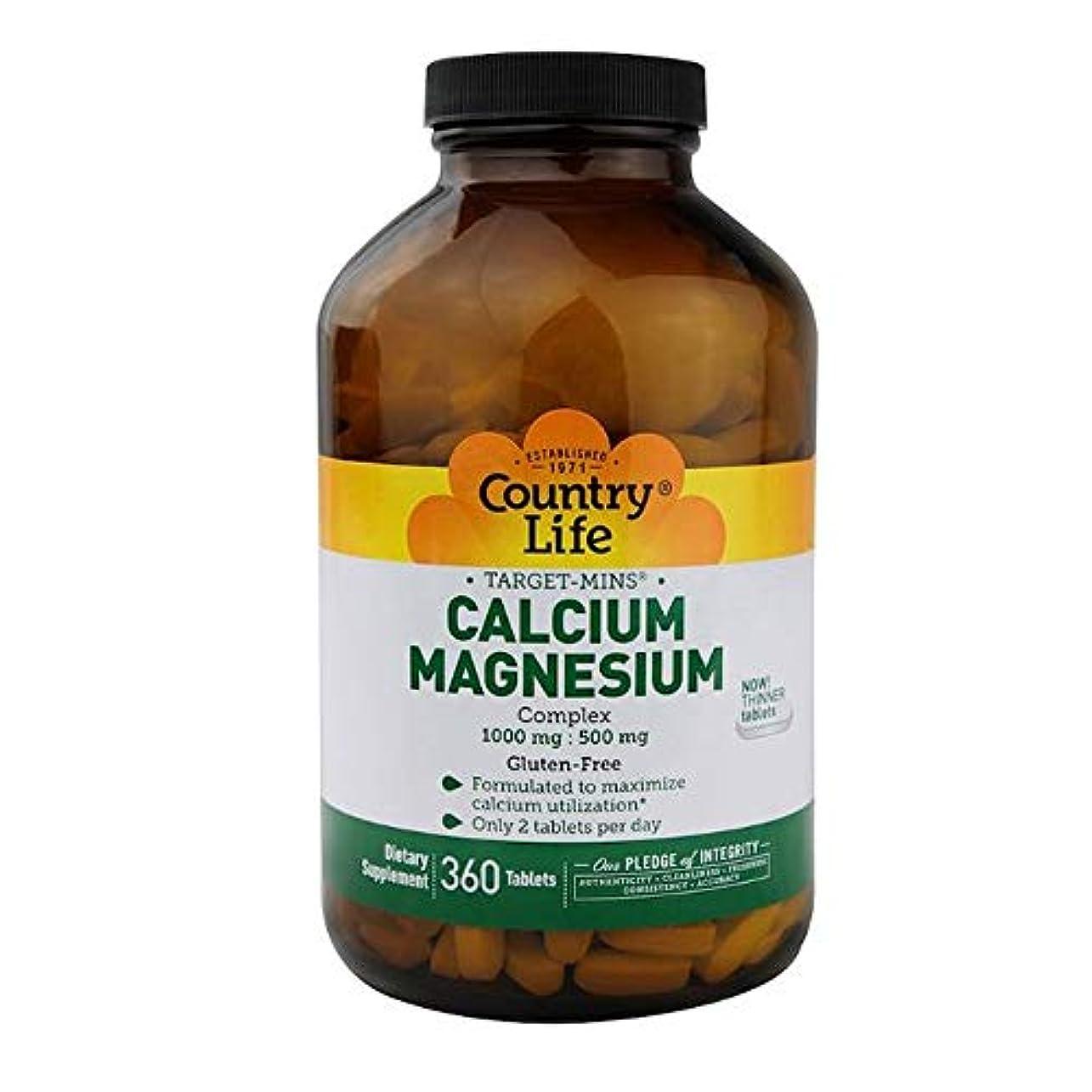 ダイエット保守可能豊富にCountry Life ターゲット ミネラル カルシウム マグネシウム 複合体 360錠 【アメリカ直送】
