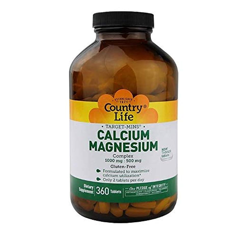 スクラブ主張する蒸留Country Life ターゲット ミネラル カルシウム マグネシウム 複合体 360錠 【アメリカ直送】