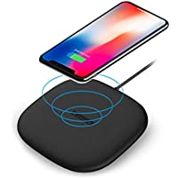 Qi ワイヤレス充電器 iPhone 10W急速充電 9.9mm極薄シンプル安全 置くだけで充電 iPhone 8 / iPhone 8 plus/iPhone x/Galaxy S9 / Galaxy S8 / Galaxy Note 8 / Nexus/Nokia / その他QI規格対応機種用QI USBワイヤレス充電器