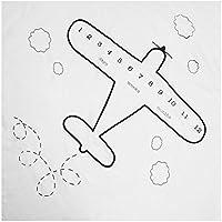 chinatera かわいいベビー写真小道具 ベビーカーブランケット 飛行機プリント ソフト写真 スワドルバックドロップ 布製バスタオル