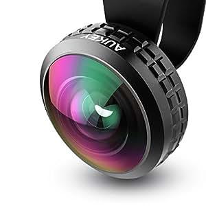 AUKEY スマホレンズ 超広角レンズ 238°0.2×ワイドレンズ セルカレンズ iPhone、Samsung、Sony、Androidスマートフォン、タプレットなどに対応 PL-WD02