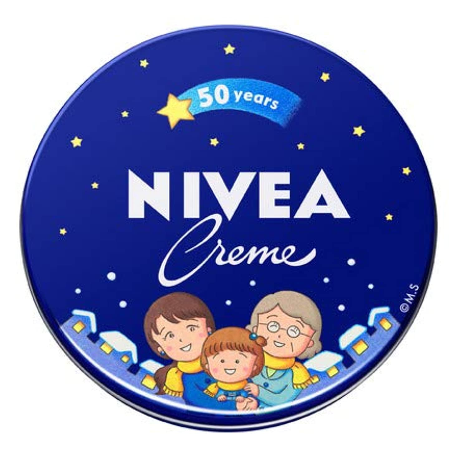 値カーフお風呂を持っているNIVEA ニベアクリーム 中缶 56g さくらももこ限定デザイン