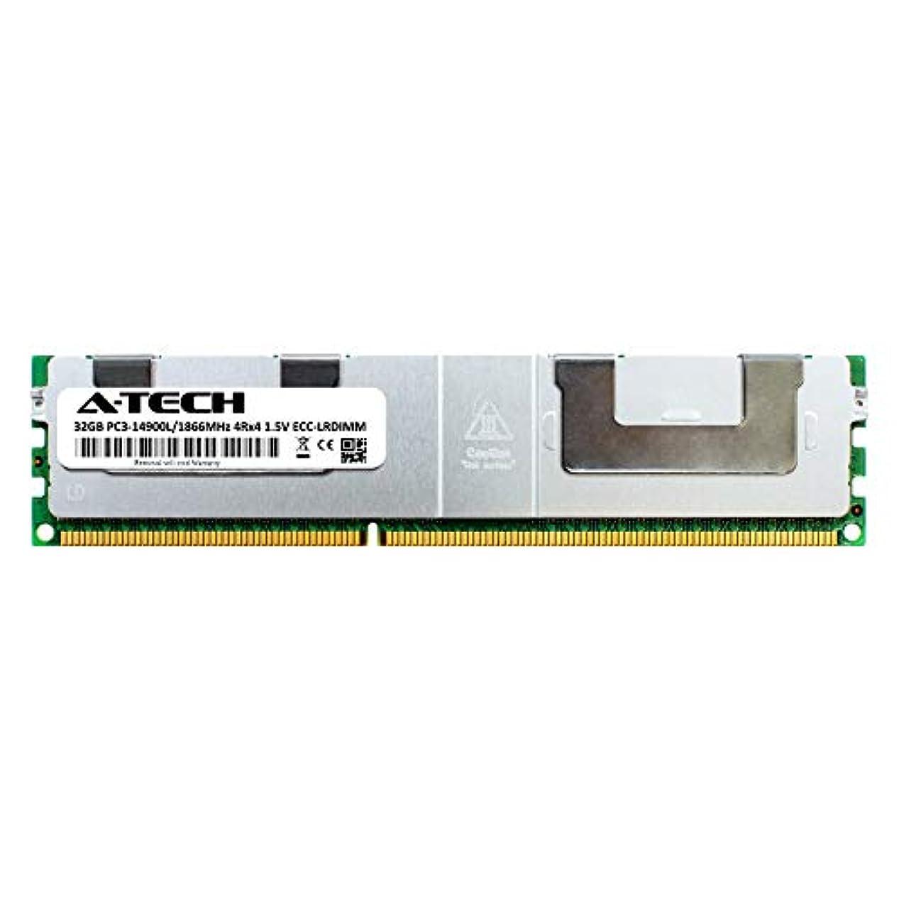 くびれた告発手錠A-Tech 32GB モジュール SuperMicro X9SRA DDR3 ECC 負荷軽減 LR DIMM PC3-14900 1866Mhz 4rx4 1.5v サーバー メモリ RAM