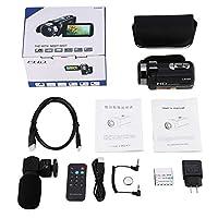 AAcreatspaceデジタルビデオカメラFHD 1080P IR 24MP 16Xデジタルズームカムコーダーとマイク、3.0インチLCD 270度タッチスクリーン