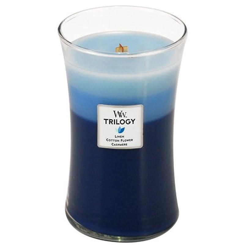 怠けた七時半落胆させる(1, Blue) - Woodwick Trilogy - 650ml Clothsline Fresh