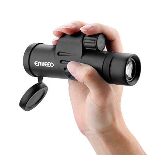 enkeeo 単眼鏡 8x30 三脚付属 マルチコーティング 防滴仕様 軽量 コンパクト 野鳥観察やライブ用