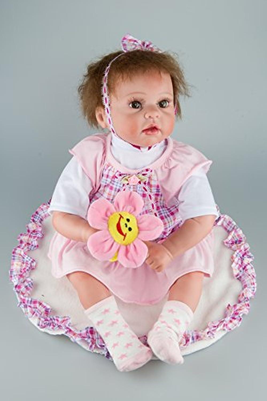ハンドメイドLovely新生児赤ちゃん人形Reborn BoyソフトシリコンRealistic Lifelike 22インチ解剖学的に正しい磁気おしゃぶり