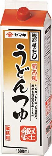 ヤマキ 関西風うどんつゆ 紙パック 1800ml