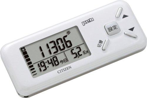 シチズン(CITIZEN) デジタル歩数計 peb ホワイト ...