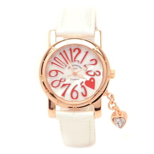 [ピエールタラモン]pierretalamon 腕時計 レディース ウォッチ ジルコニアチャーム シェル文字盤 ホワイト PT-1000L-3 レディース