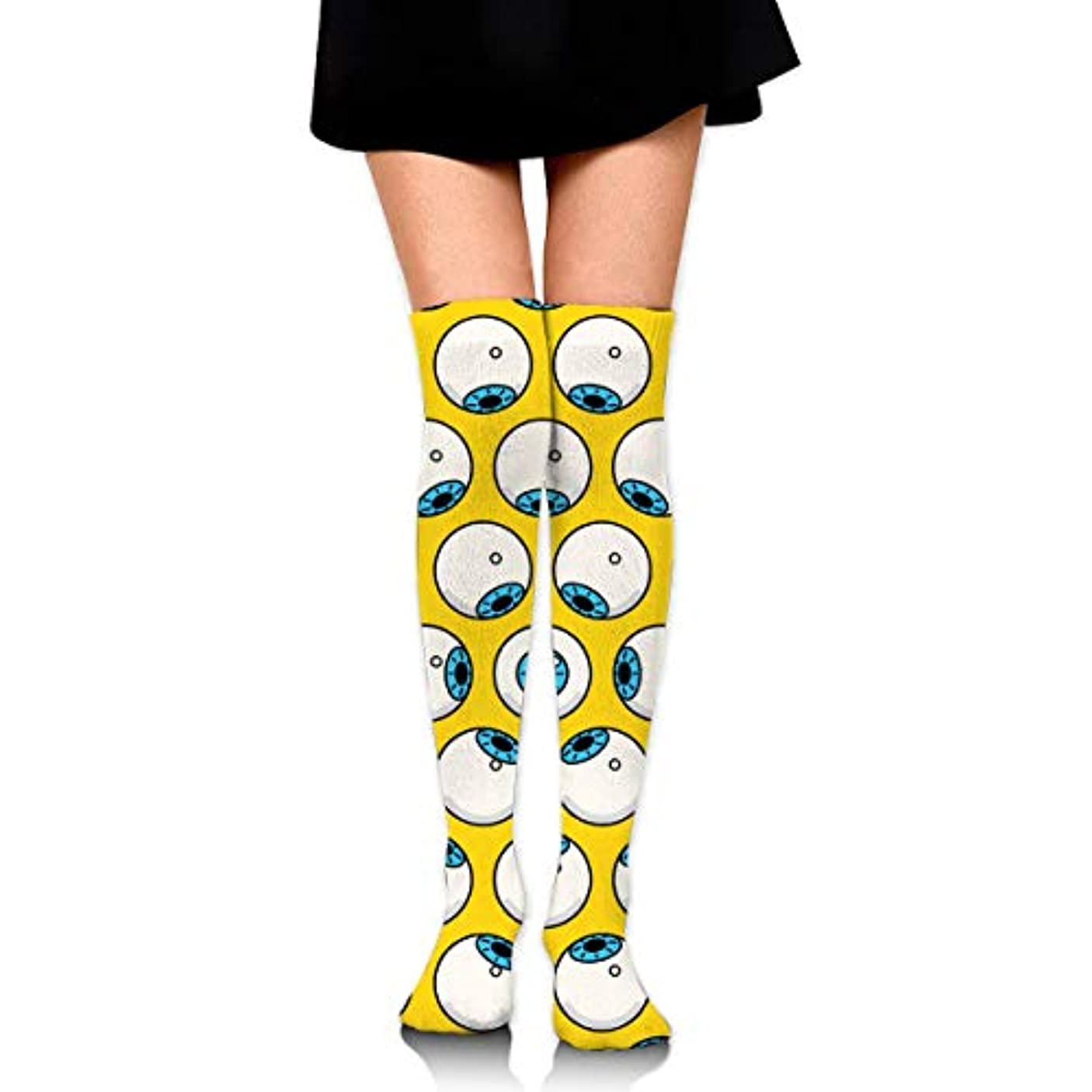 家具フィードオンこっそりMKLOS 通気性 圧縮ソックス Breathable Extra Long Cotton Mid Thigh High Eyeball Winter Exotic Psychedelic Print Compression...