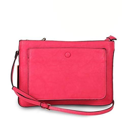diophy PUレザーiPadタブレット保護スリーブフロントポケットレディースファッションクラッチバッグハンドバッグ財布jx-373 One Size ブラック 5048660
