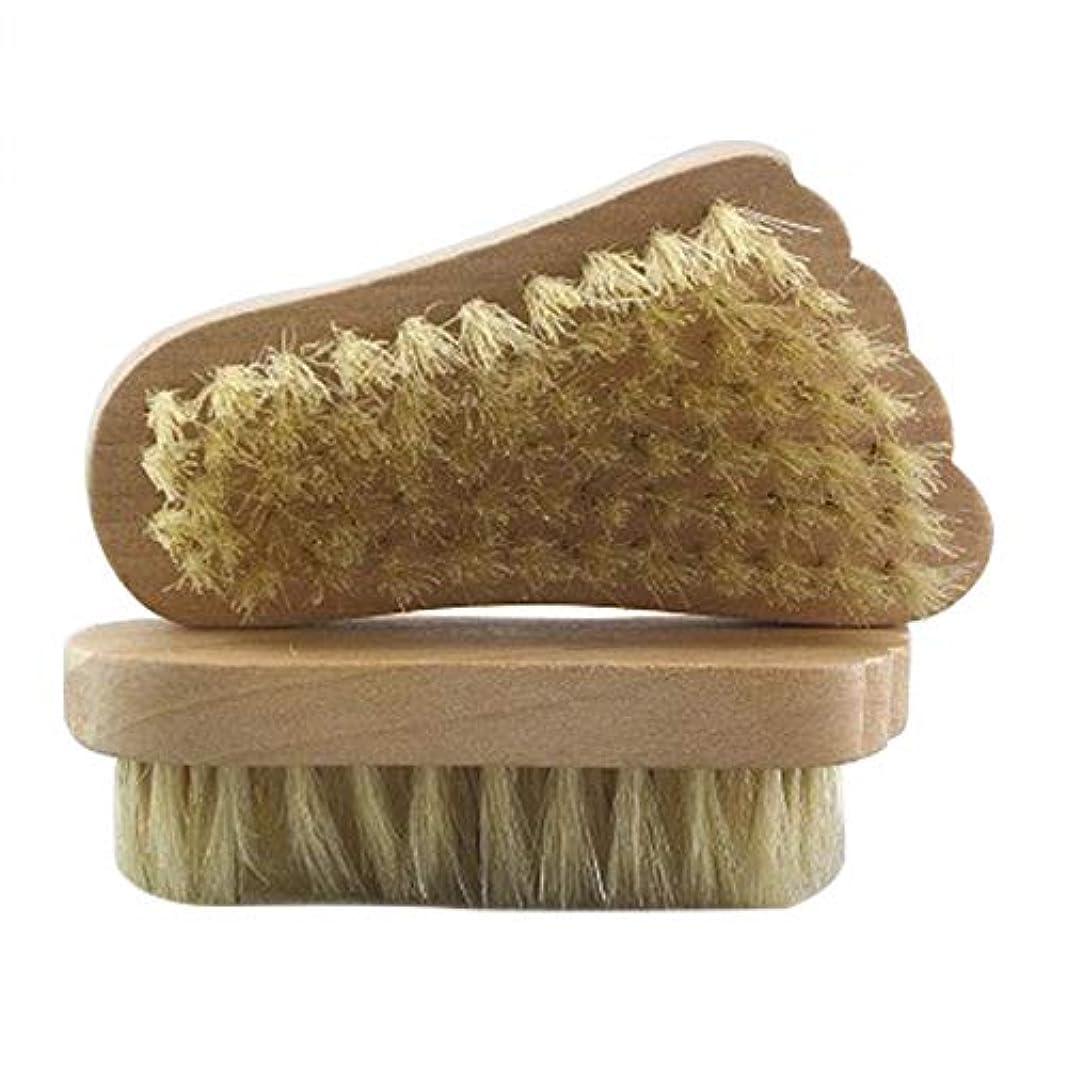 威する事業中でMaltose フットブラシ 豚毛 足の裏ブラシ 足爪ブラシ セルライト除去 角質除去 足 2個