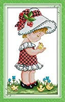 Joy日曜日クロスステッチキット、Lovely Girl 14CT Counted R369-1