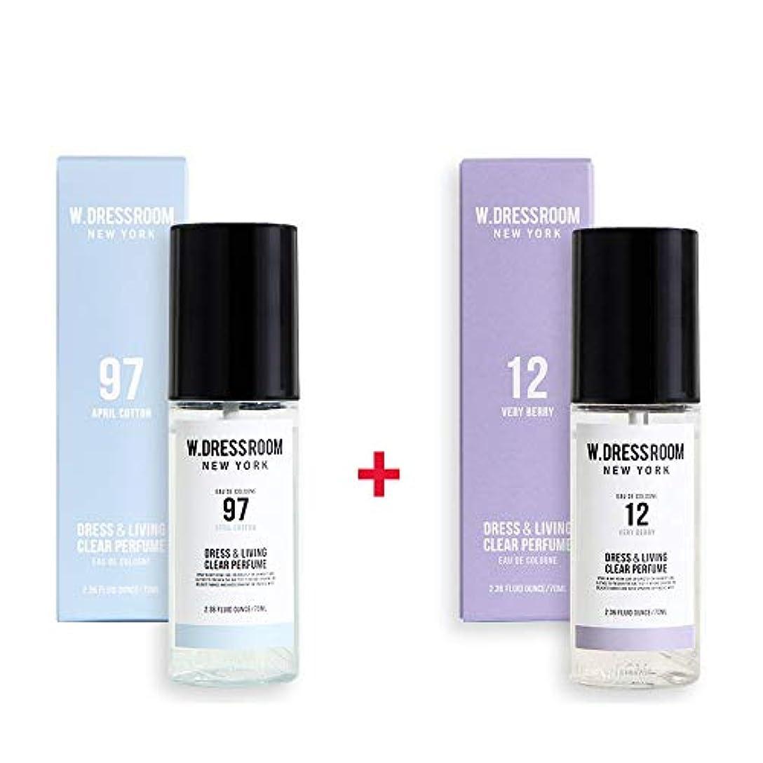 サービス期待する盗難W.DRESSROOM Dress & Living Clear Perfume 70ml (No 97 April Cotton)+(No 12 Very Berry)
