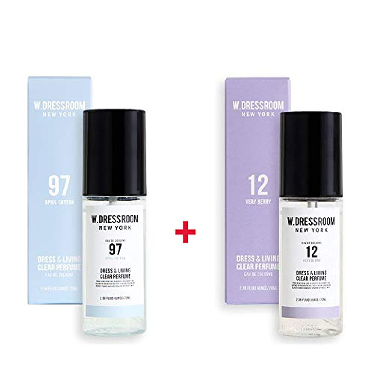 シビック討論言い直すW.DRESSROOM Dress & Living Clear Perfume 70ml (No 97 April Cotton)+(No 12 Very Berry)