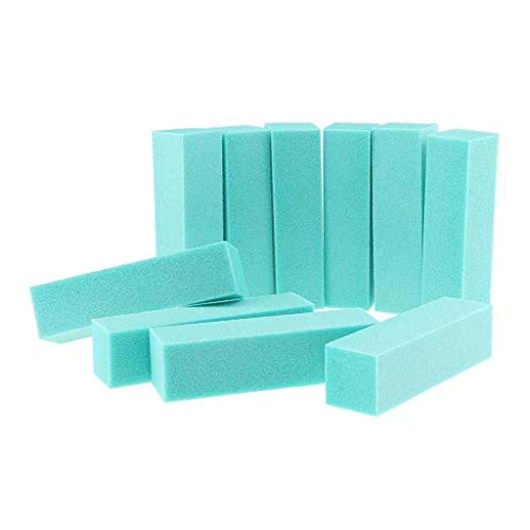蜂慢学部長10PCSネイルアートケアバッファーバフ研磨サンディングブロックファイルグリットアクリルマニキュアツール-プロフェッショナルサロン使用または家庭用 - 緑