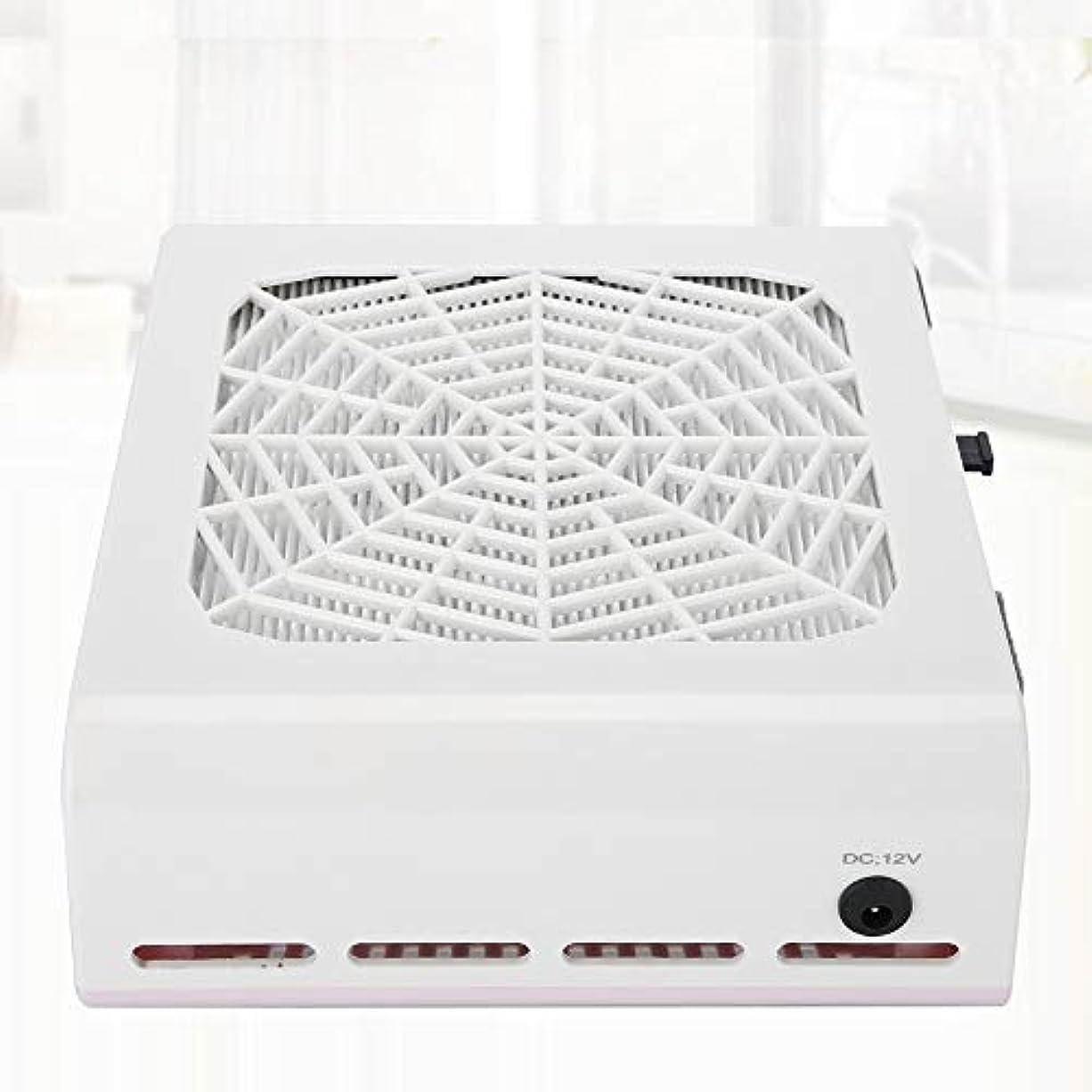 孤独サンプル滴下ネイルダスト 集塵機 ダストコレクター ネイルケア 強い吸収力 40W ネイルダスト吸引 お手入れ簡単 ネイルファン (ホワイト40W 二代)