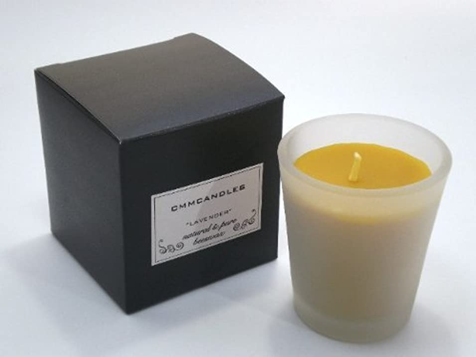 草縞模様のクローン蜜蝋キャンドル CITRONELLA/シトロネラ