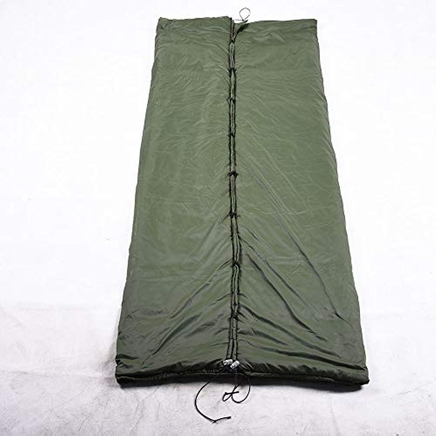 200 * 75センチキャンプ暖かいハンモック中空コットン屋外ポータブルブランケット軽量断熱カバージッパー寝袋ソフト