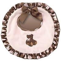 Bearington collection ベアリントンコレクション Posh Dots Bib (Pink)クマさんアップリケが可愛いスタイ(よだれかけ)【ピンクベア】【出産祝い】【RCP】【楽ギフ_包装選択】02P01Jun14